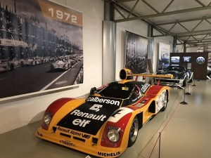 cars at the Le Mans museum