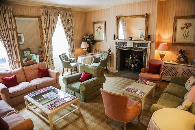 One of several guest lounges at The Eastbury