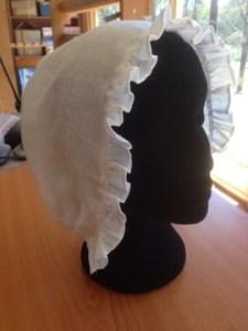 Plain linen Regency-style cap