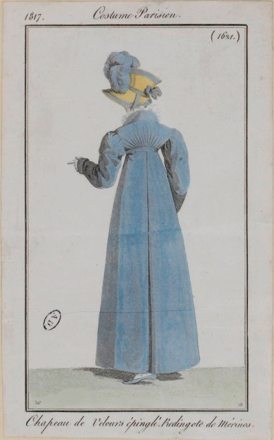 Blue redingote from Costume Parisen 1817