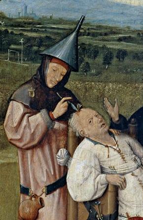 L'extraction de la pierre de folie, Hieronymus Bosch, v.1494.