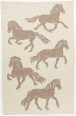 Álafoss Wool Blanket - Jaquard Horse 0101