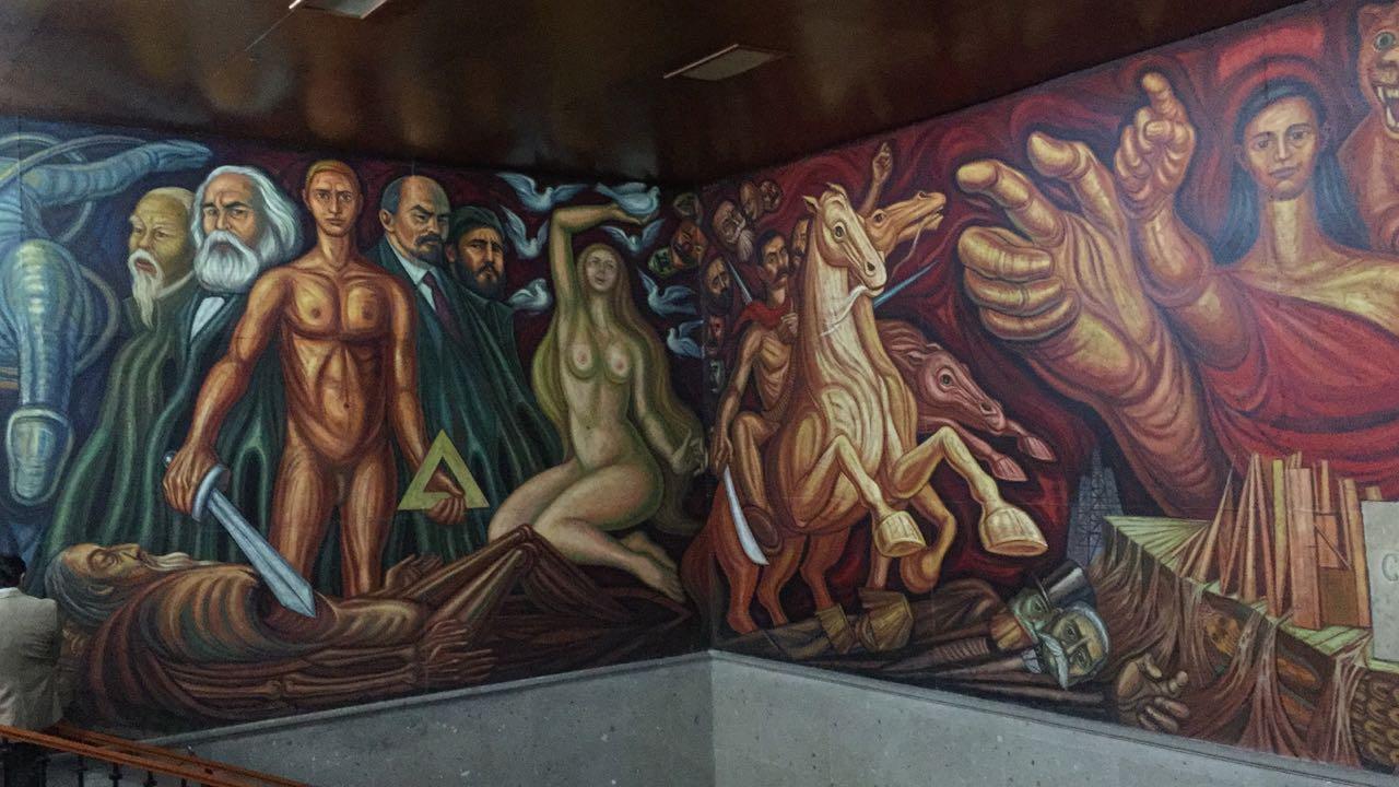 Concluye restauración de mural de Guillermo Chávez Vega