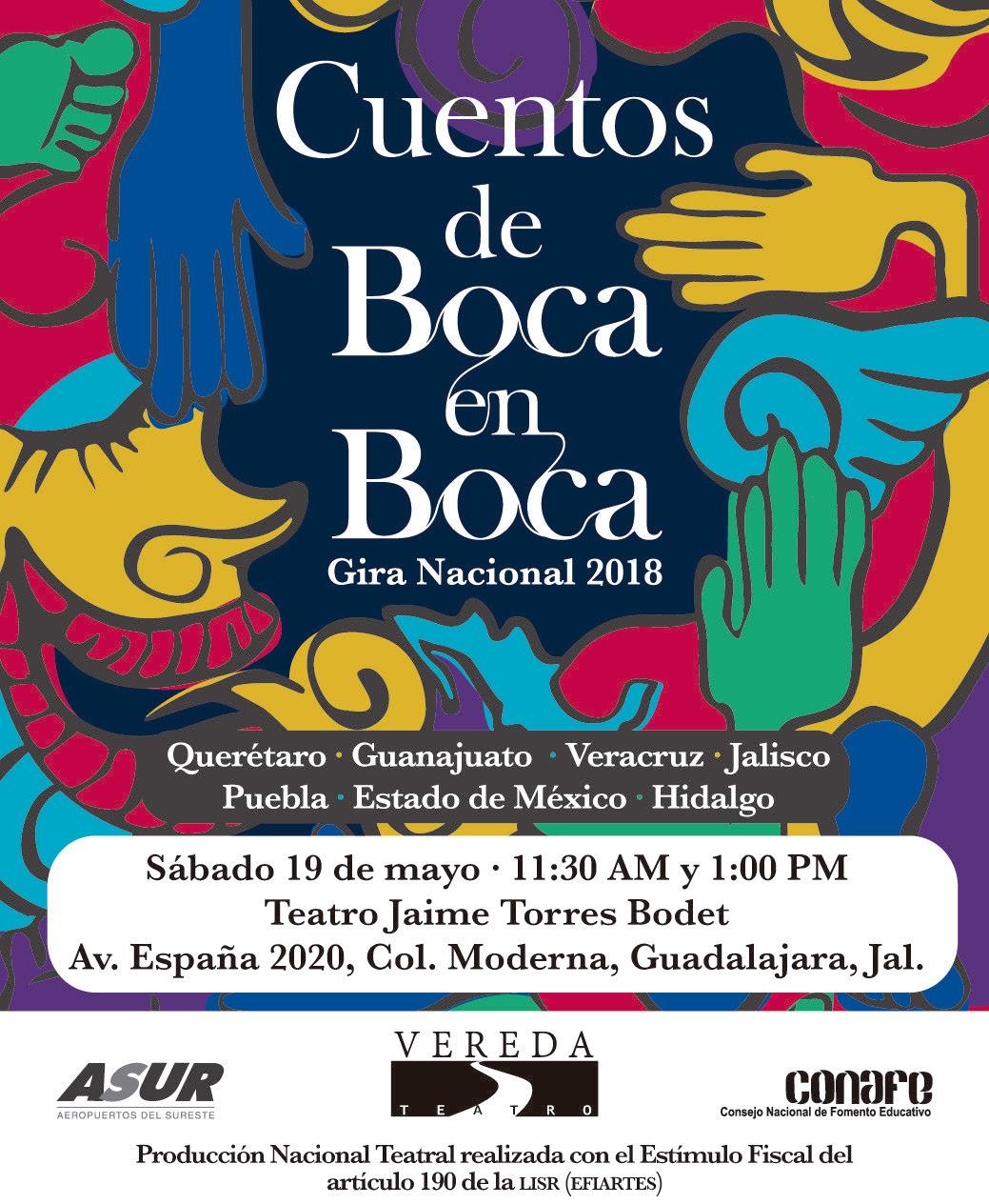 Los cuentos de Boca en Boca / Teatro Jaime Torres Bodet