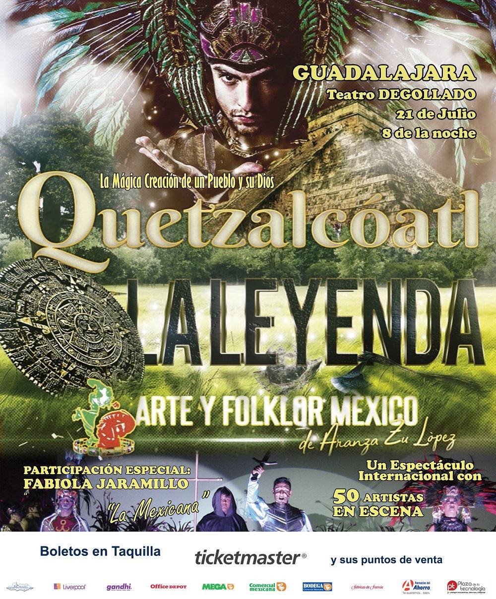 #DateAlaFuga #Cortesías / Quetzalcóatl, la leyenda / Teatro Degollado