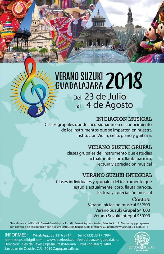 El Estudio Suzuki Guadalajara prepara su Curso de Verano 2018.