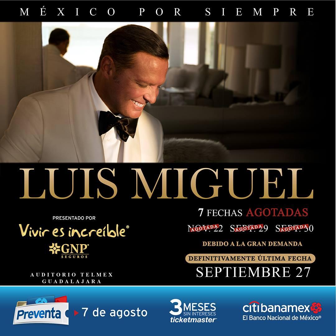 Luis Miguel / Auditorio Telmex / ABRE NUEVA FECHA