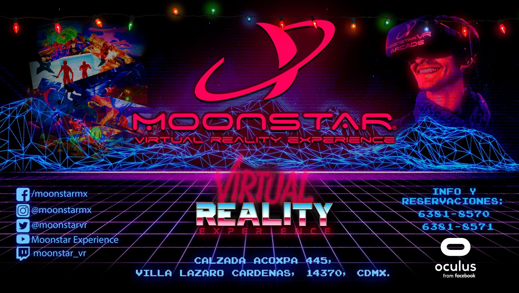 En estas fiestas decembrinas descubre el mundo de la realidad virtual con: MOONSTAR EXPERIENCE