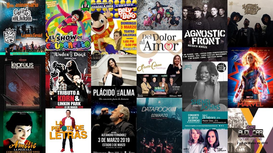 Calendario Semanal Eventos del 25 Febrero al 3 de Marzo 2019