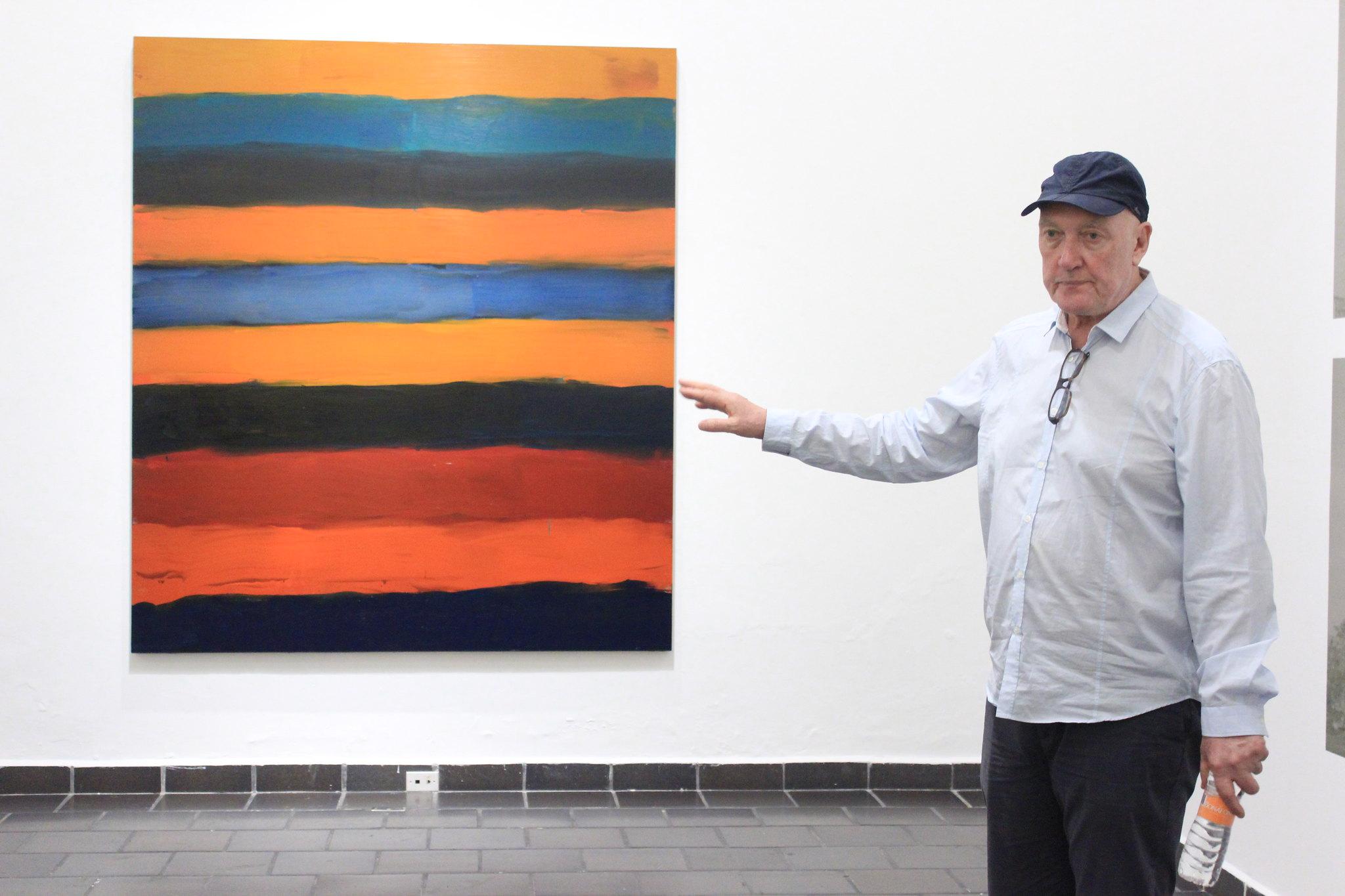 Presenta el pintor abstracto Sean Scully su obra creada en México