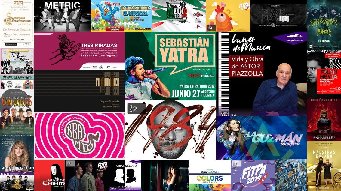 Calendario Semanal Eventos del 24 al 30 de junio 2019