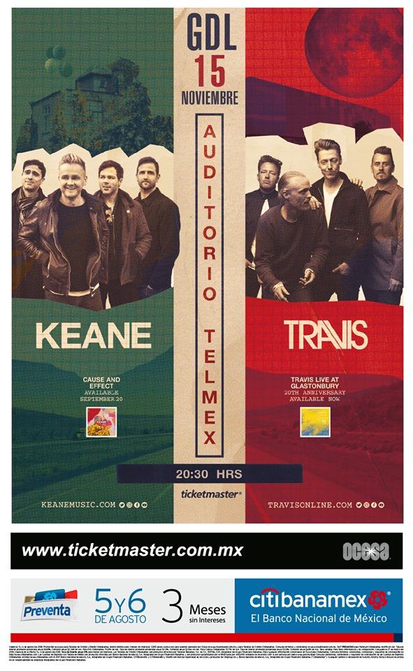 Keane & Travis Anuncian Concierto en Guadalajara