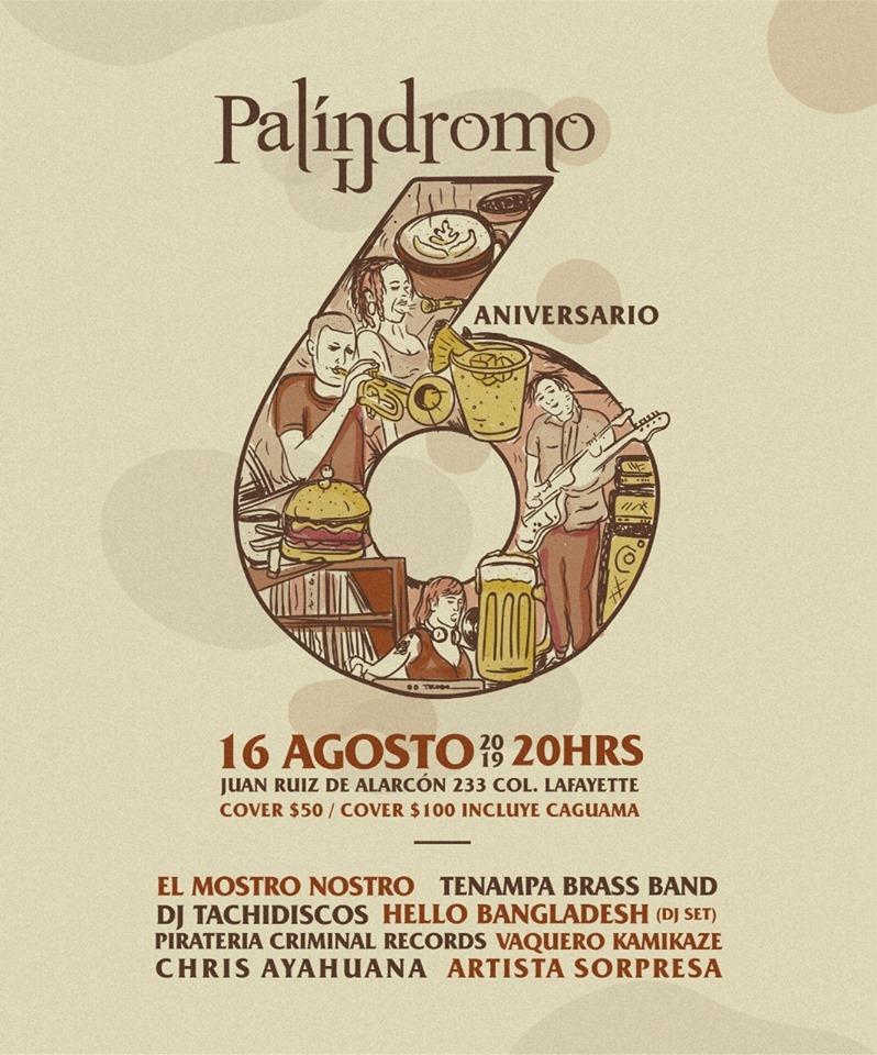 6to aniversario de Palíndromo