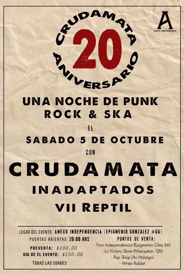 Crudamata 20 Aniversario