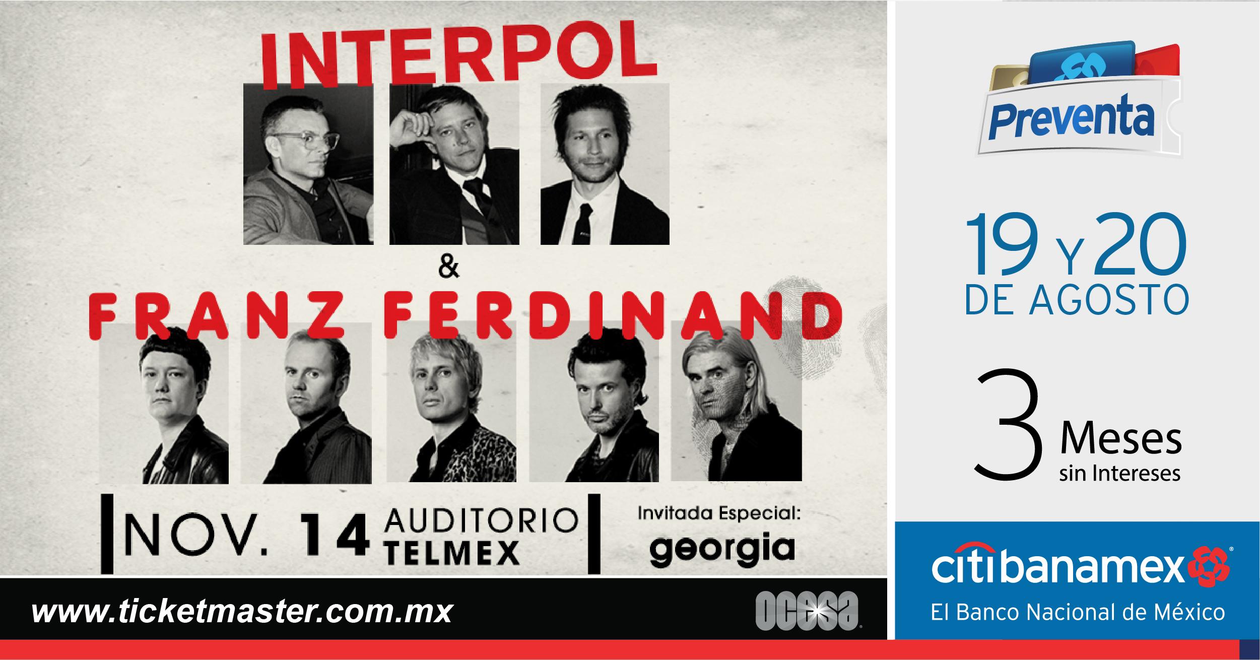 Franz Ferdinand e Interpol anuncian concierto juntos en Guadalajara