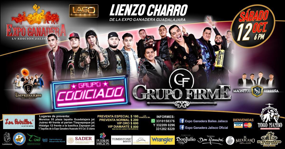 Grupo Codiciado y Grupo Firme en la Expo Ganadera Jalisco 2019!