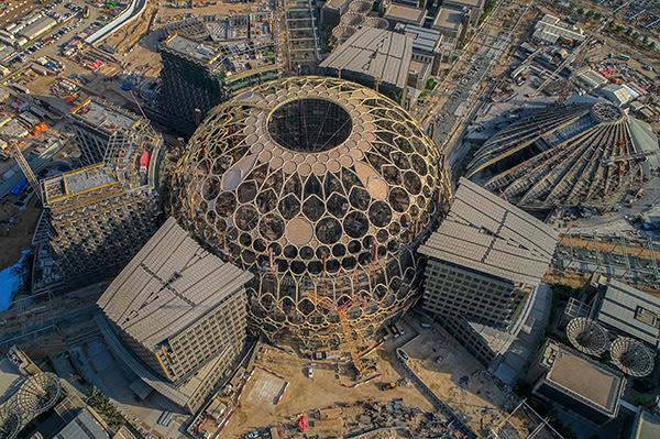 Expo 2020 desvela la última maravilla de la arquitectura de Dubai como la sección final del enorme cúpula de Al Wasl icónica es levantado en su sitio