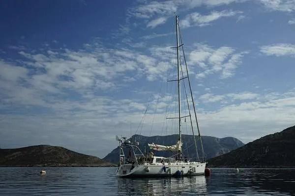 Kalymnos Sailing Boat on Mediterranean Sea