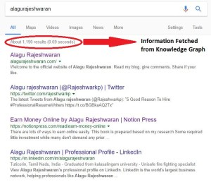 Searcher Task Accomplishment knowledge graph