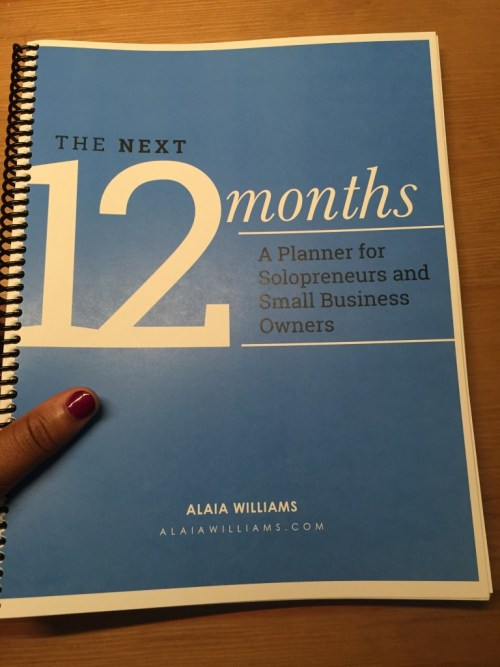 The Next 12 Months Alaia Williams Planner