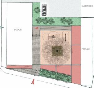 1- Projet d'aménagement de la cour