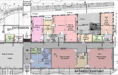 2- Plan de l'extension et réaménagement de l'existant