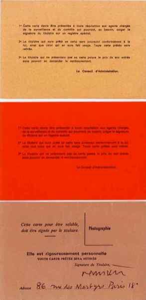 cartes d'exposant, Salon des Artistes français (1984) ; Salon d'Automne (1983, 1984), verso