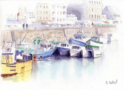 Granville, bateaux de pêche