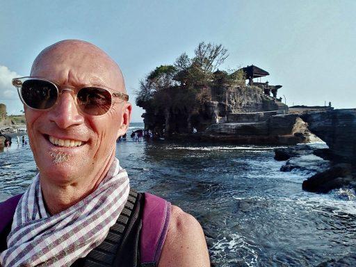 Alain Diveu au Tanah Lot à Bali