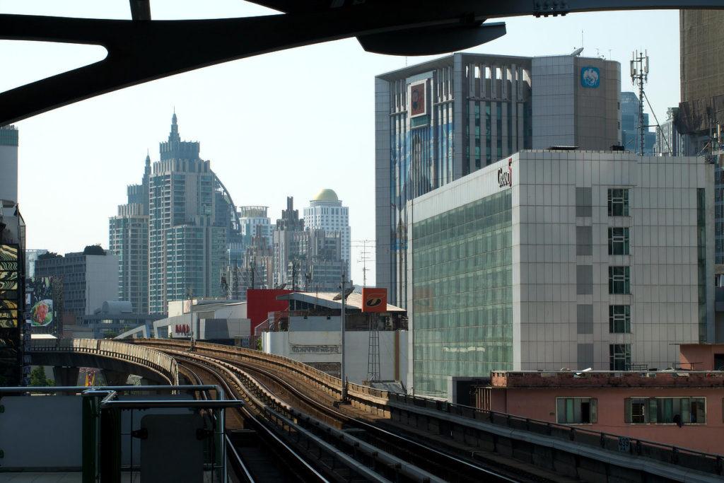 Ligne du métro aérien ou Skytrain de Bangkok © Alain Diveu