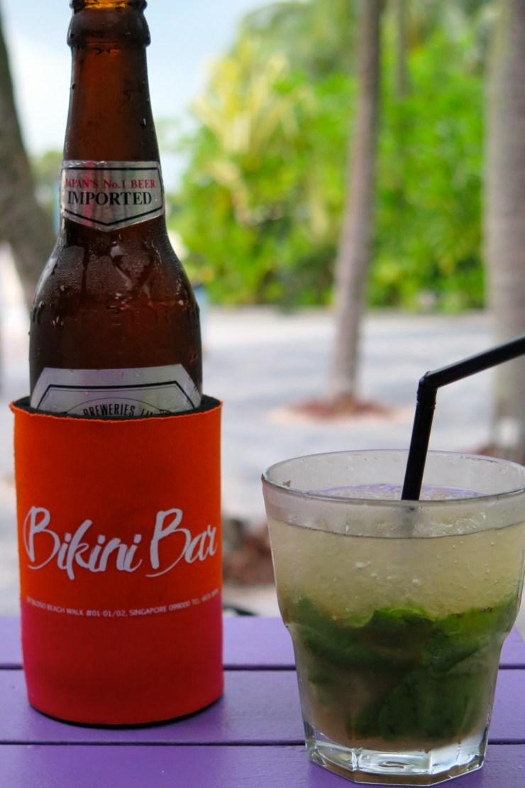 Asahi Beer and Mojito - Bikini Bar