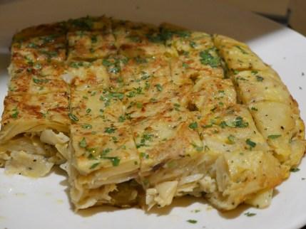Tortilla Patatas A La Espanol (Spanish Omelette with Potato)