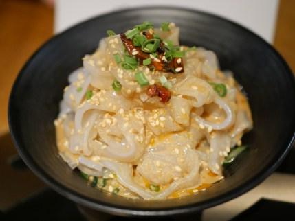 Sesame Glass Flat Noodles ($4.80)