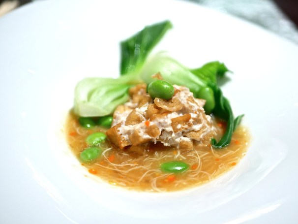 Braised Tofu, Meatball, Hairy Crab Meat and Roe