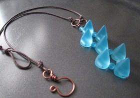 blue cone sea glass