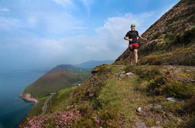 John Mackey, Ultra Athlete, on Drung Hill, Mountain Stage, Co Kerry, in The Kerry Way Ultra Marathon, a non stop endurance race of 189.05km, which stretches along The Wild Atlantic Way, traversing over the McGillycuddy's Reeks and Iveragh Peninsula, along ancient trails and old roads and coastal cliffs.Photo:Valerie O'Sullivan/NO REPRO FEE