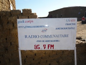 Radio sign in Ouatagouna