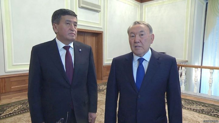 Жээнбеков менен Назарбаев жолугуп, чек ара маселесин талкуулашты