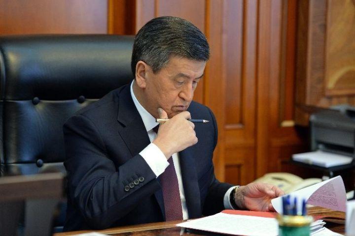 Президент Сооронбай Жээнбеков Ислам өнүктүрүү банкынан жардам сурады