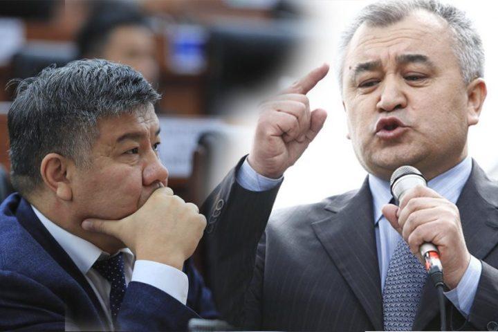 Видео — Өмүрбек Текебаев Алмамбет Шыкмаматовдун партиядан кетишинин себебинин нак чындыгын айтты
