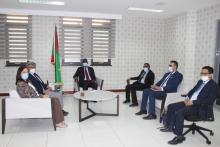 وزير الشؤون الاقتصادية وترقية القطاعات الإنتاجية عثمان مامودو كان خلال لقائه اليوم مع السفير، رئيس بعثة الاتحاد الأوروبي، جياكوما داورازو
