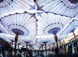 شكل-مظلات-المسجد-النبوي-من-أسفل