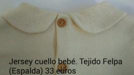 Jersey cuello bebé. Espalda. Detalle. 33 euros