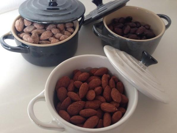 Almonds three ways