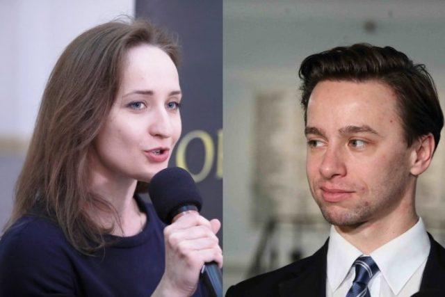 Karina Walinowicz i Krzysztof Bosak Foto: PAP
