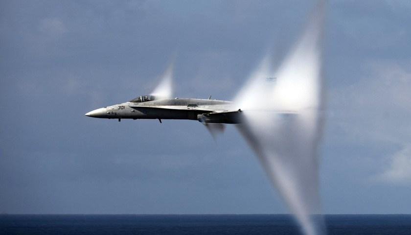 الطائرة يمكنها أن تخترق جدار الصوت