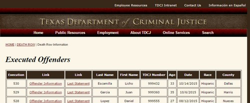مواقع غريبة موقع Texas of Criminal Justice
