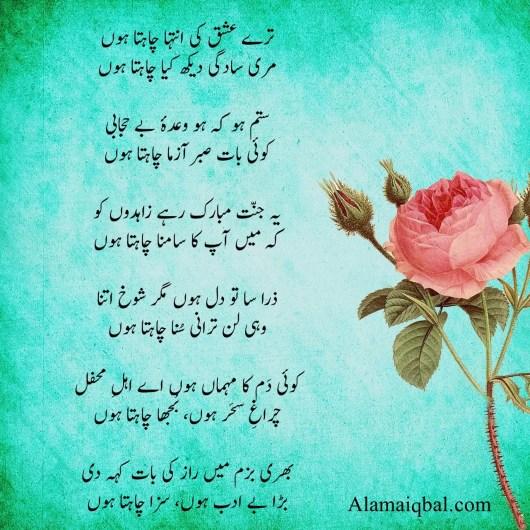 allama iqbal famous poems