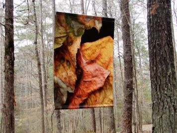 """Leaves after Degas."" banner, 48x66"