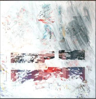 """""""February,"""" acrylic on canvas, 24""""x24"""""""